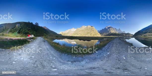 Mountain lake reflection view 360 panorama european alps picture id856359082?b=1&k=6&m=856359082&s=612x612&h=1pflfli7yjhssq3kryj rid4e wzntd4znifadk0ytw=