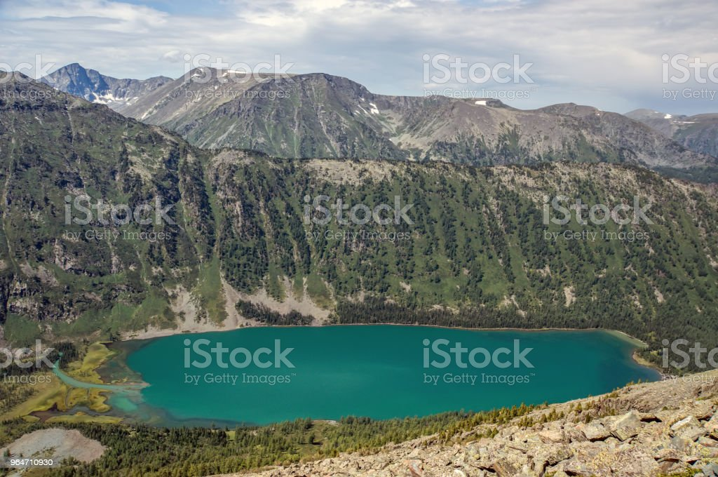 Mountain lake, Russia, Siberia royalty-free stock photo