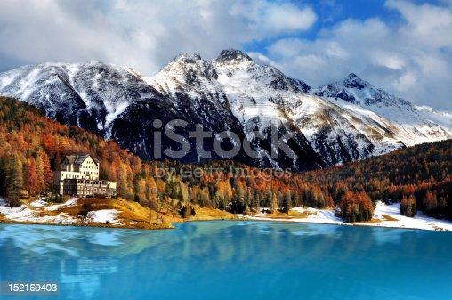 istock Mountain lake, St. Moritz, Switzerland 152169403