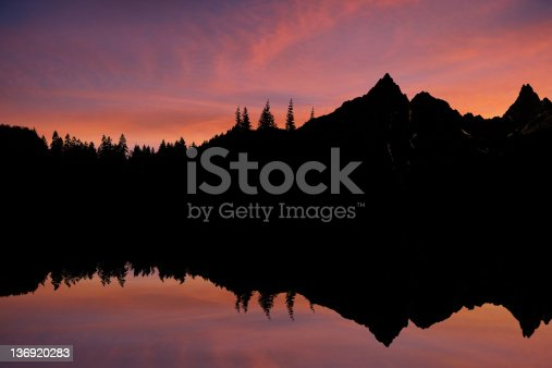 wilderness mountain and lake at sunset (XXXL)