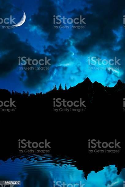 Photo of XL mountain lake twilight