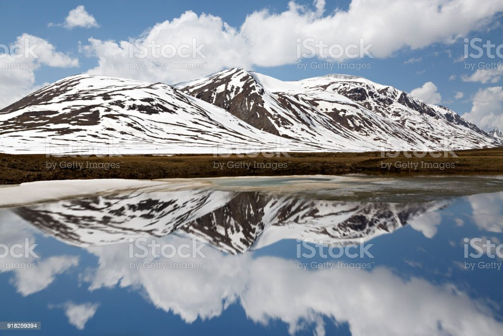 Mountain Lakes in Kyrgyzstan stock photo