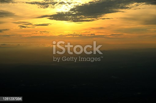 Landscape of Sunrise at Mountain