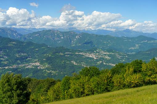 Mountain landscape at Valcava pass, in Lecco province