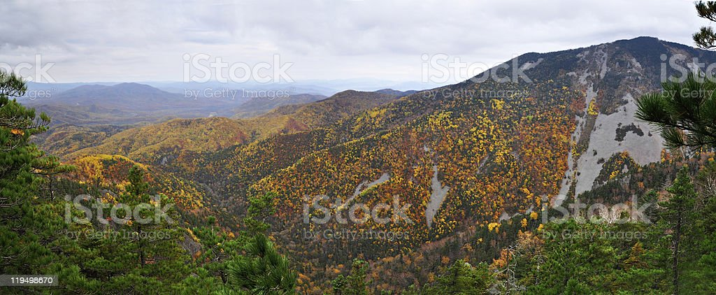 Mountain landscape, autumn, panorama stock photo