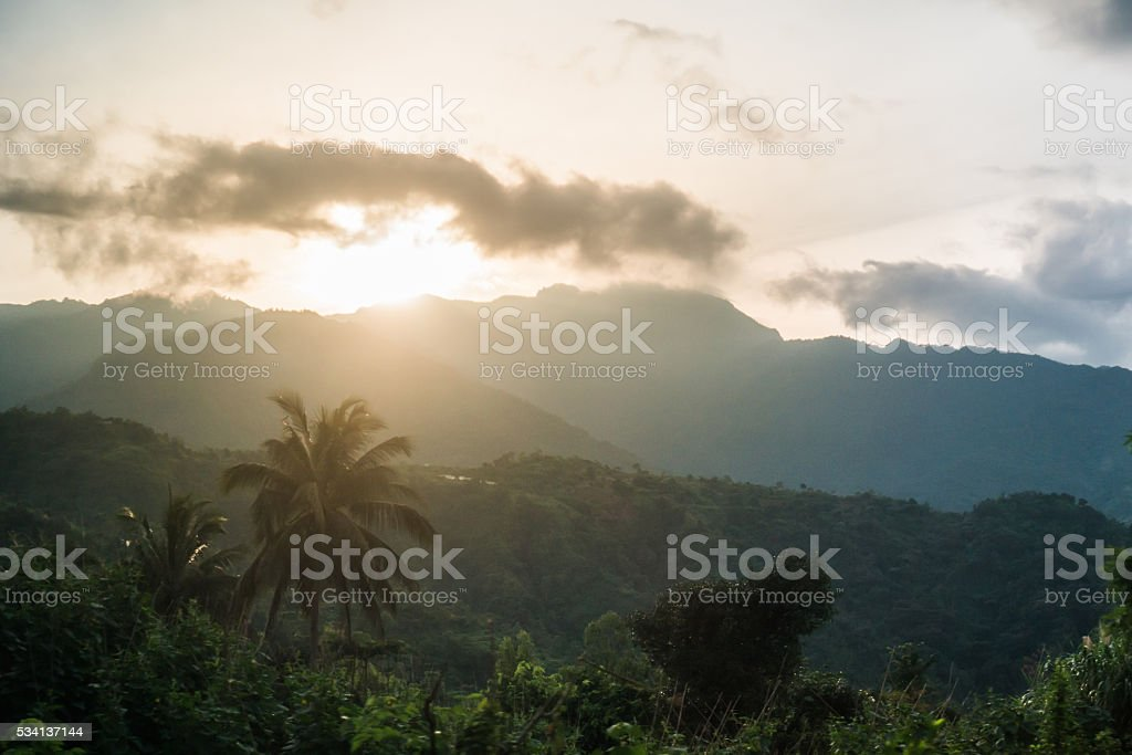 Mountain Landscape Baguio Philippines North Luzon stock photo