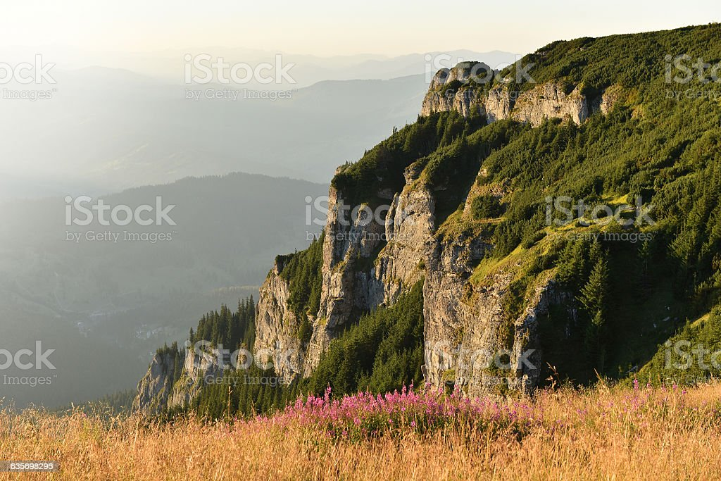 Mountain landscape. Ceahlau mountains, Eastern Carpathians royalty-free stock photo