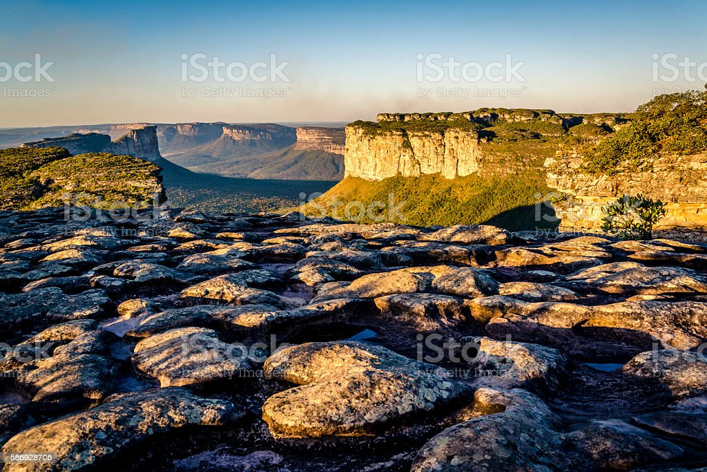 Mountain landscape, Chapada Diamantina, Bahia, Brazil stock photo