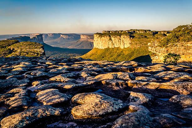 mountain landscape, chapada diamantina, bahia, brazil - плато стоковые фото и изображения