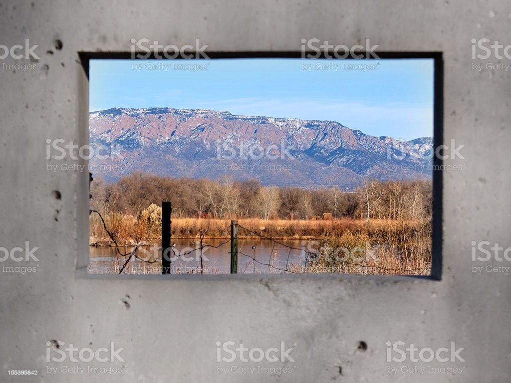 mountain landscape concrete royalty-free stock photo