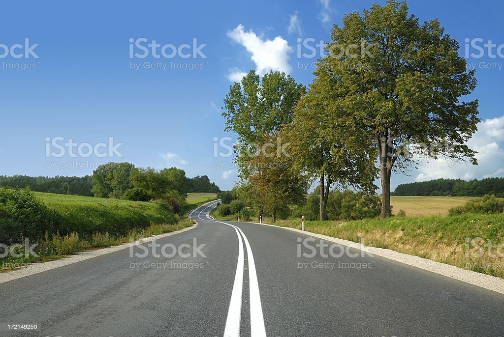 Mountain landscape - empty road royalty-free stock photo