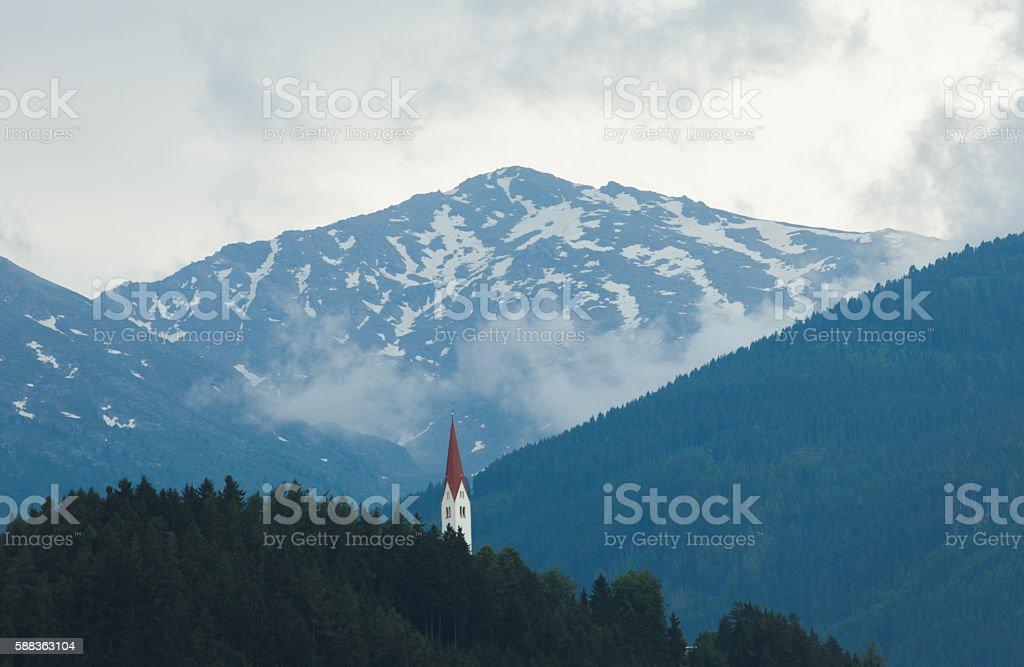 Mountain landscape - European Alps stock photo