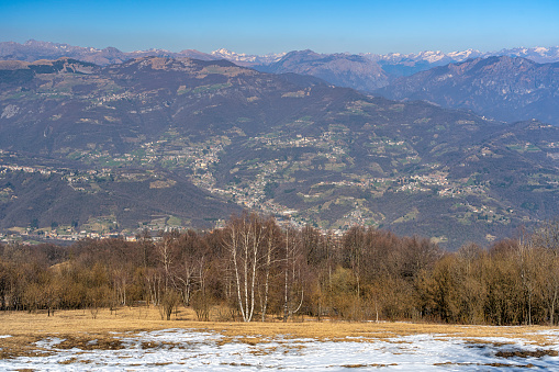 Mountain landscape from Valcava, Lombardy