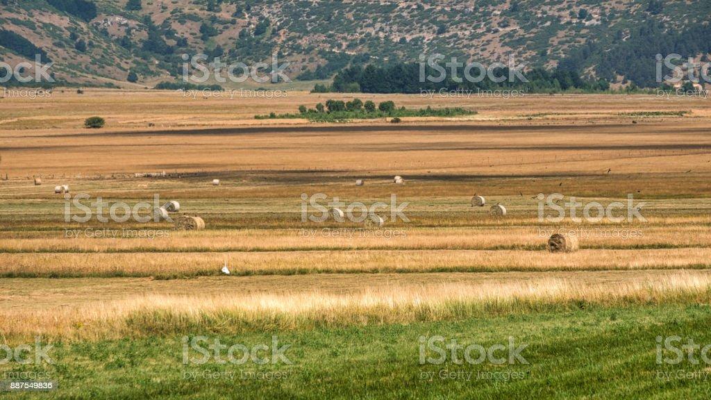 Mountain landscape in Abruzzi at summer stock photo