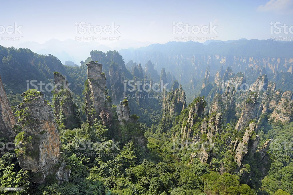 Mountain landscape in China stock photo