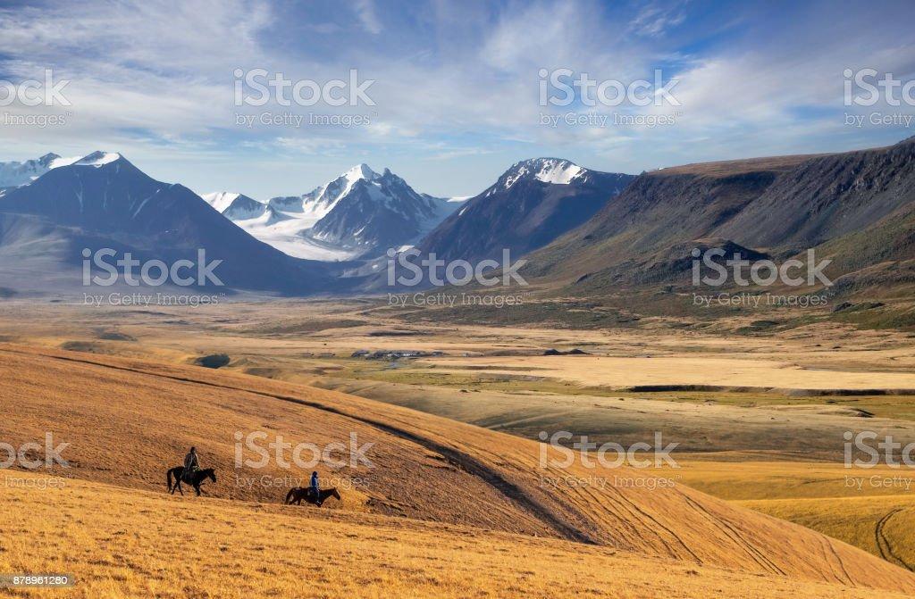 Mountain landscape in Kazakhstan near Almaty city stock photo