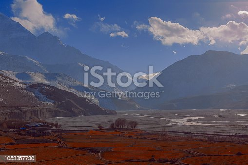 istock Mountain landscape in Nepal, Mustang, Himalayas, Kagbeni, Kali Gandaki 1053357730