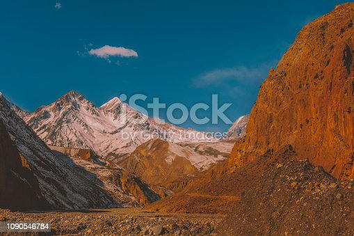 istock Mountain landscape in Nepal, Mustang, Himalayas, Kagbeni, Kali Gandaki 1090546784