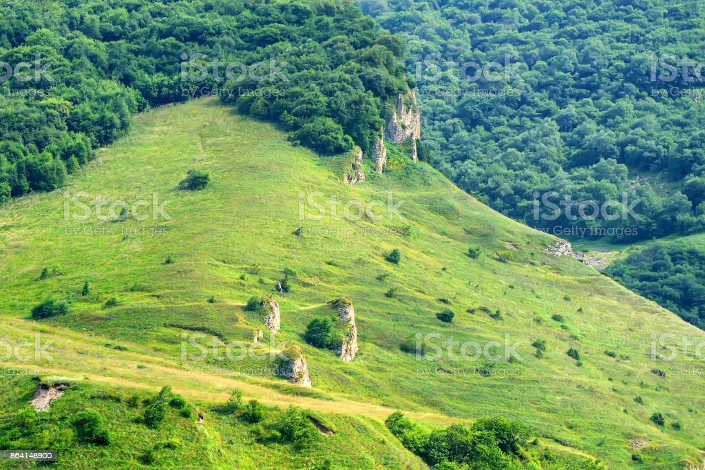 Mountain landscape in North Ossetia royalty-free stock photo