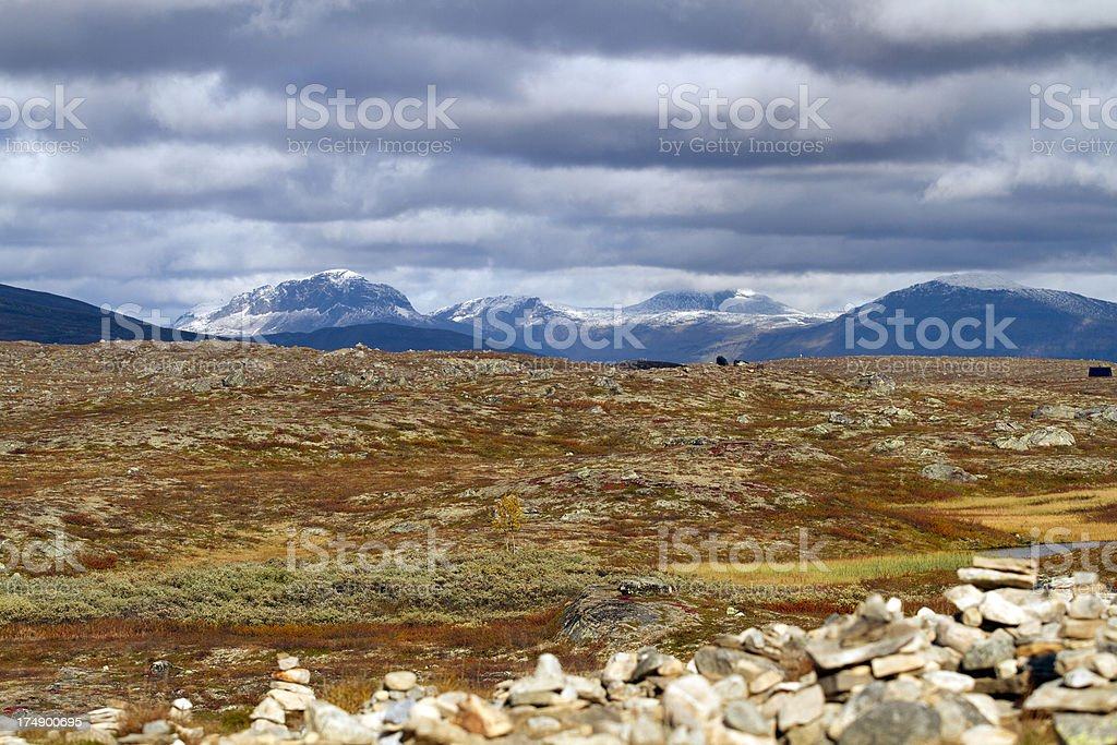 Mountain landscape in Northern Norway royalty-free stock photo