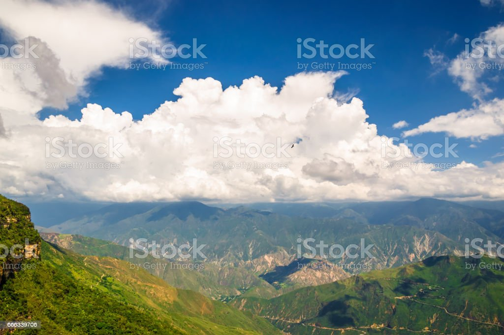 Mountain Landscape in Park national de Chicamocha in Colombia stock photo