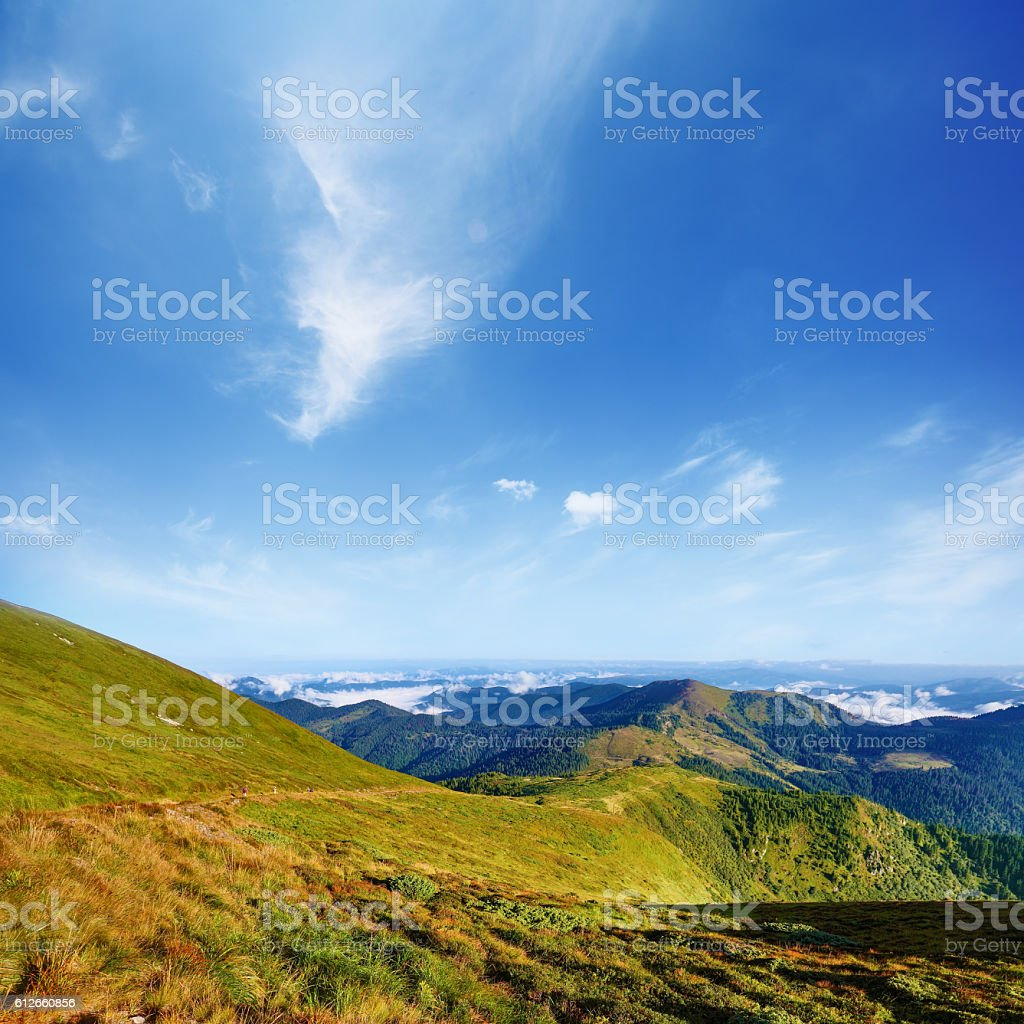 Mountain landscape in summer day stock photo