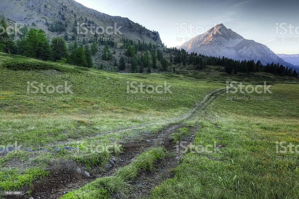 Mountain Landscape in the Alps, Mount Chaberton royalty-free stock photo