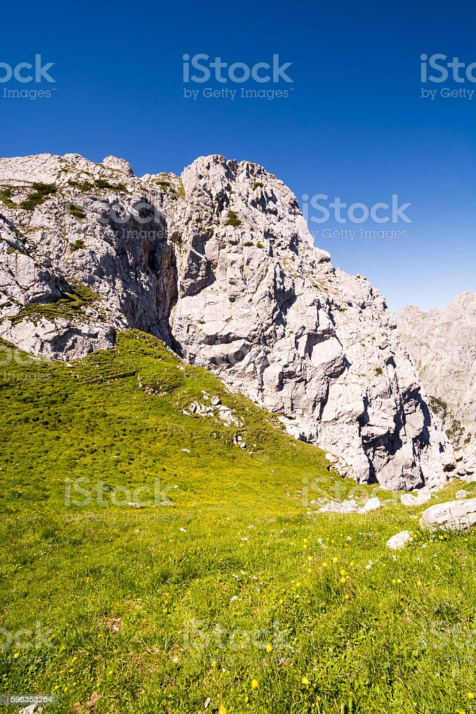 Mountain landscape in the alps of Bavaria royalty-free stock photo