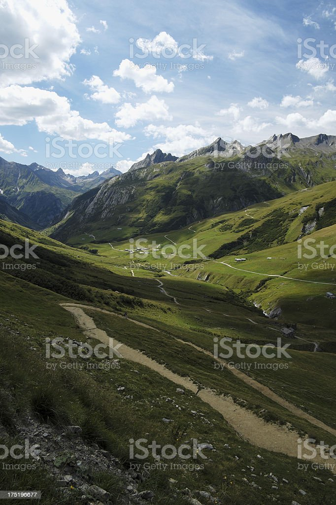 Mountain landscape in the French Alps royalty-free stock photo
