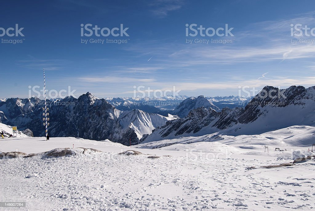 Mountain landscape in the Zugspitze, Germany royalty-free stock photo