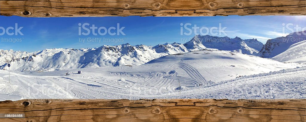 mountain landscape in winter - Royalty-free 2015 Stock Photo