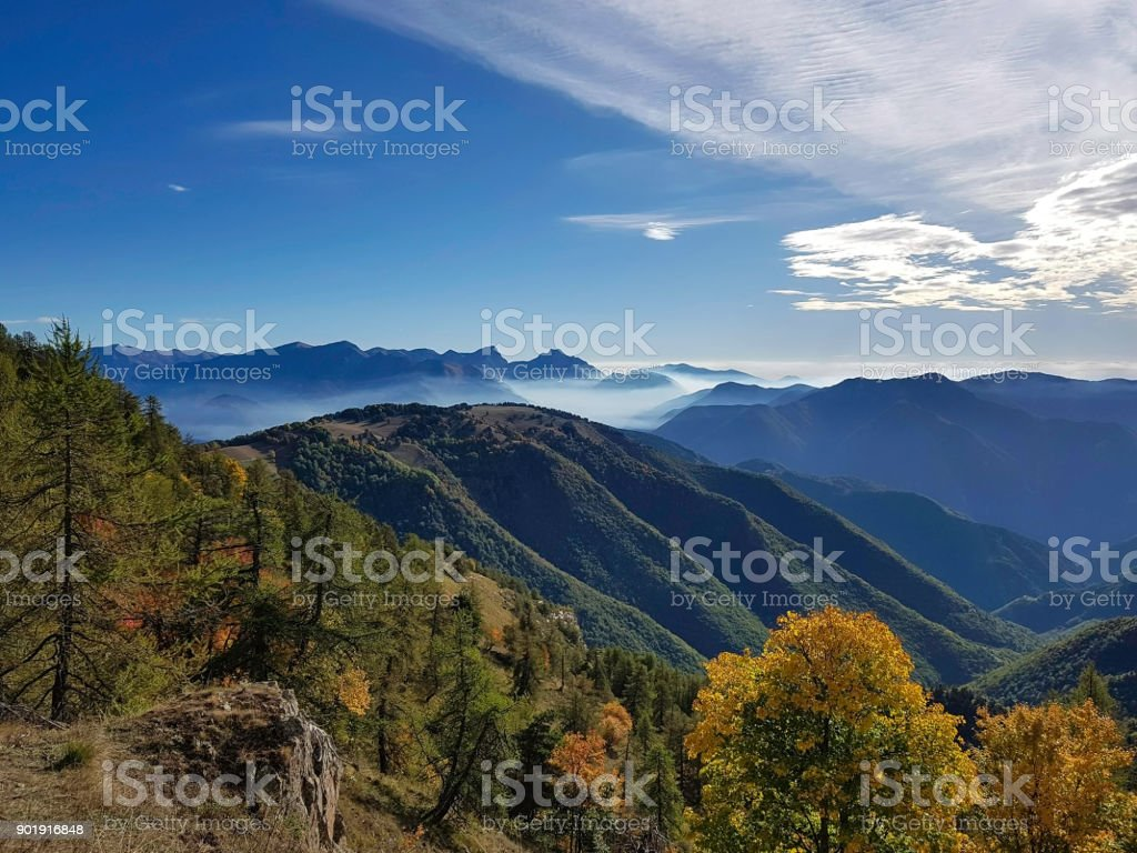 Mountain Landscape, Mercatour National Park, France - Royalty-free Alpes-Maritimes Stock Photo