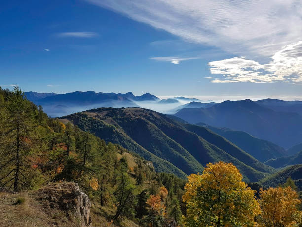 Mountain Landscape, Mercatour National Park, France stock photo