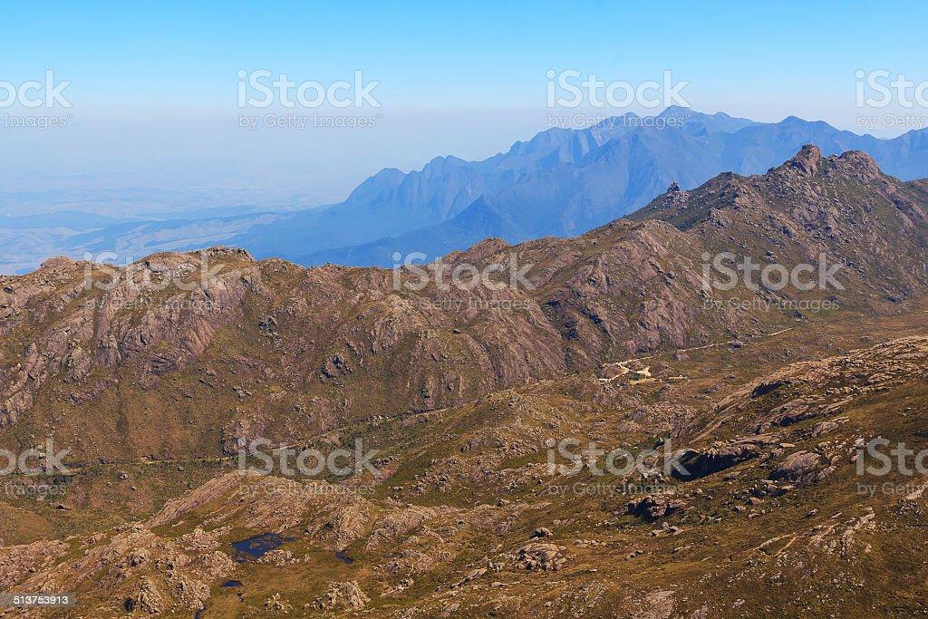 Mountain landscape, national park Itatiaia, Rio de Janeiro stock photo