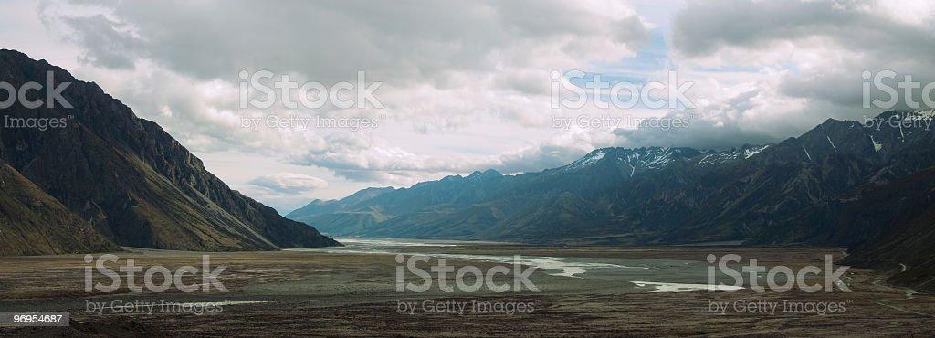 Mountain landscape, New Zealand royalty-free stock photo