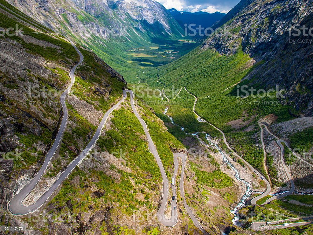 Mountain landscape, Norway stock photo