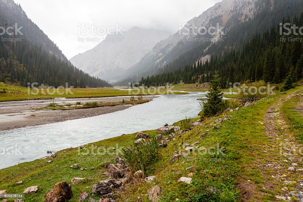 Mountain landscape of Tien Shan foto de stock royalty-free