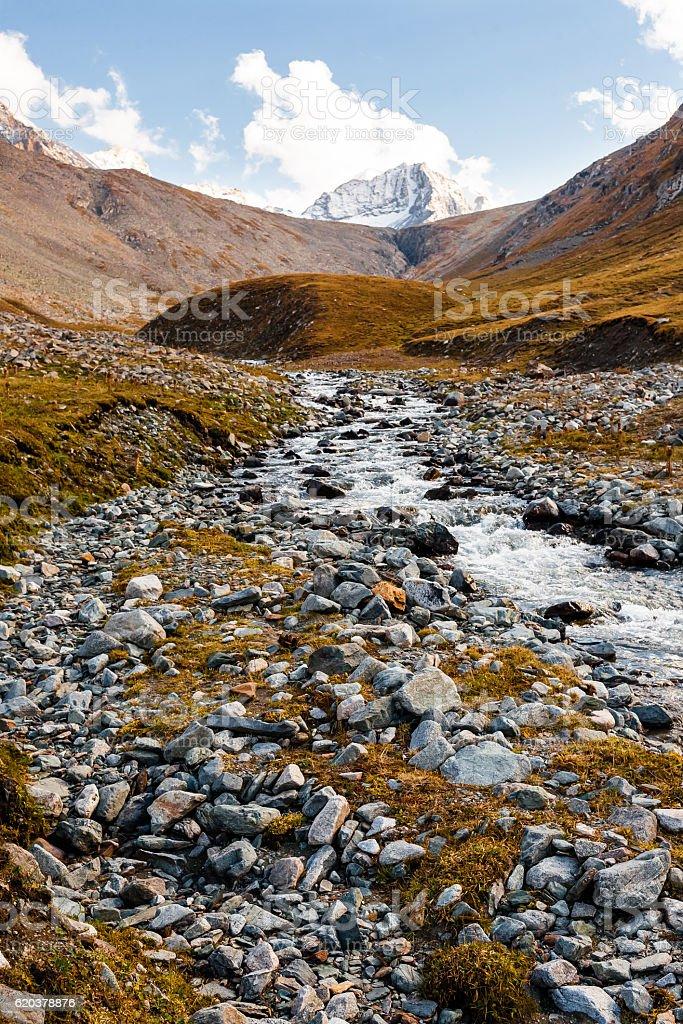 Mountain landscape of Tien Shan zbiór zdjęć royalty-free