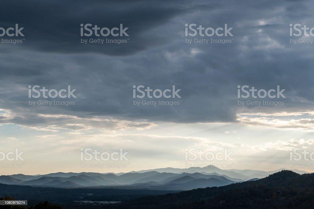 Mountain Landscape On Blue Ridge Parkway Near Asheville Nc