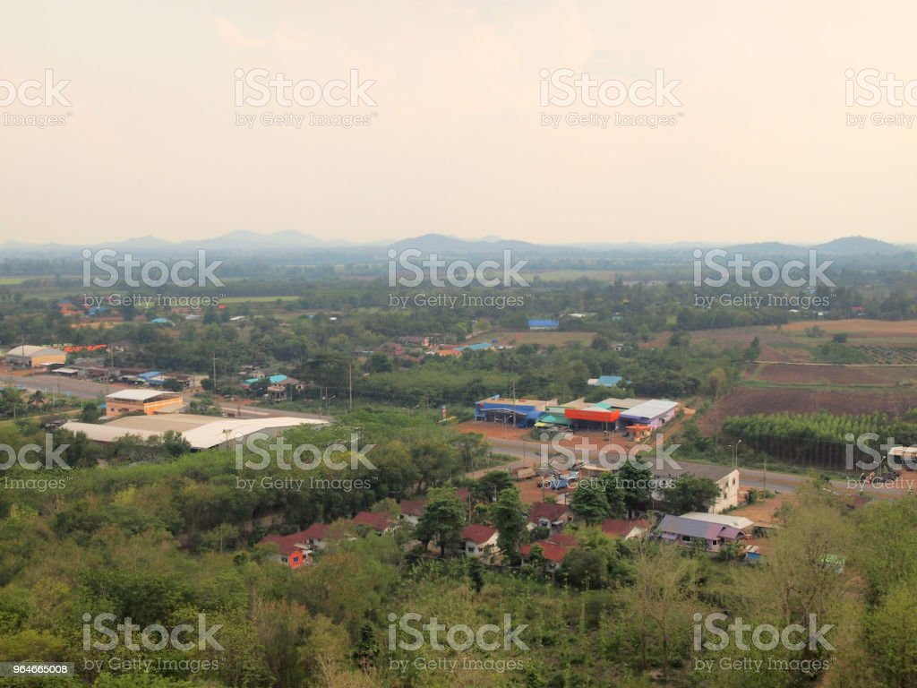 mountain landscape on countryside royalty-free stock photo