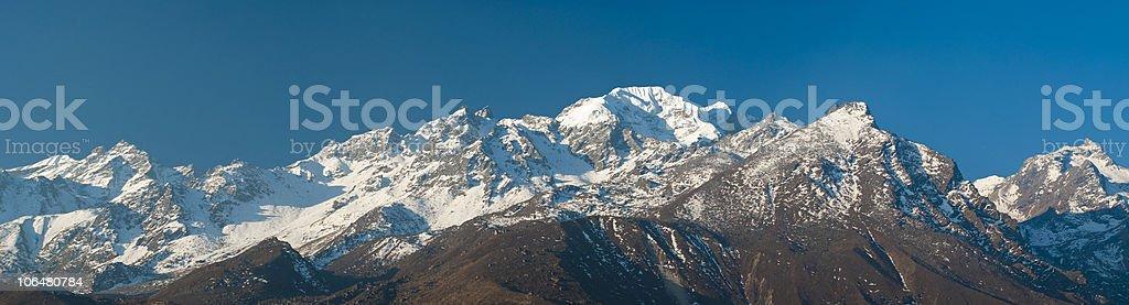 Mountain landscape (panoramic) stock photo