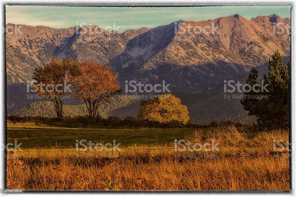 Paysage de montagne stock photo