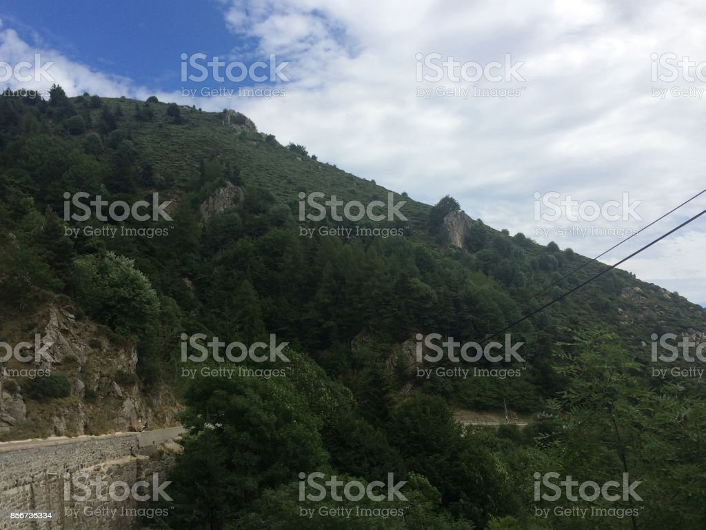 Paysage de montagne stock photo