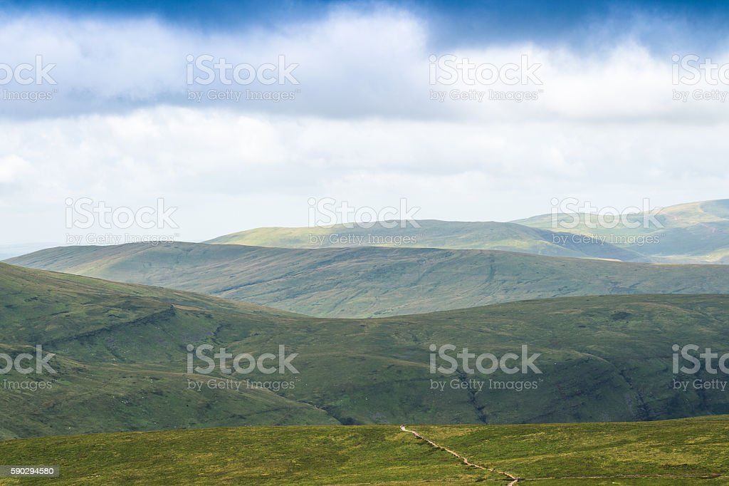 Mountain Landscape, Storey Arms, Brecon Beacons, South Wales, UK royaltyfri bildbanksbilder