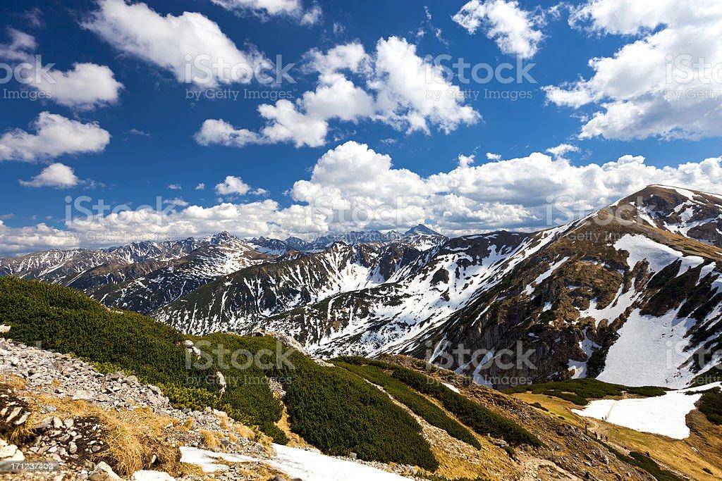 Mountain Landscape Tatras stock photo