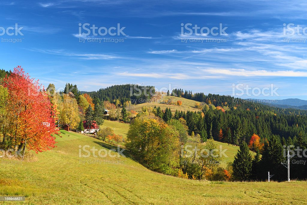Mountain landscape with blue sky royalty-free stock photo