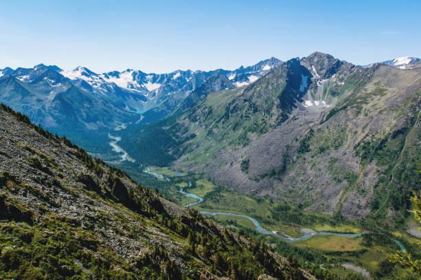 paysage de montagne avec lac dans l'Altaï, Russie - Photo