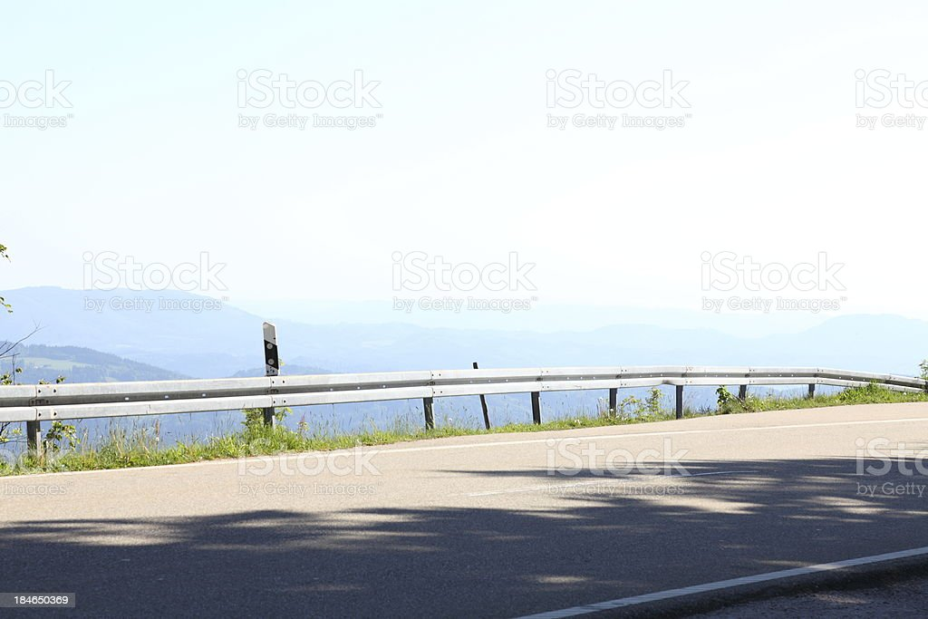 mountain landscape with street royalty-free stock photo
