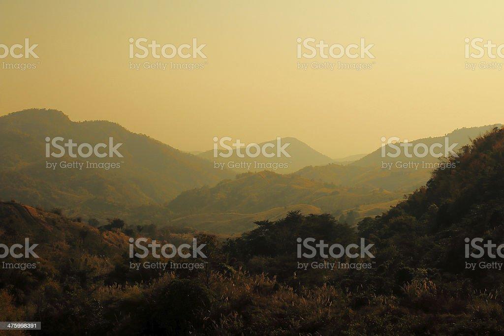 Mountain Layer in Sunshine stock photo