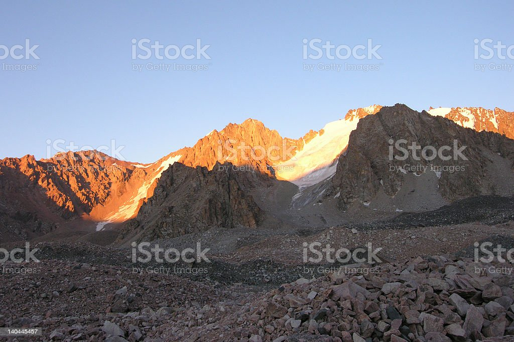 Mountain Light and Shadows royalty-free stock photo